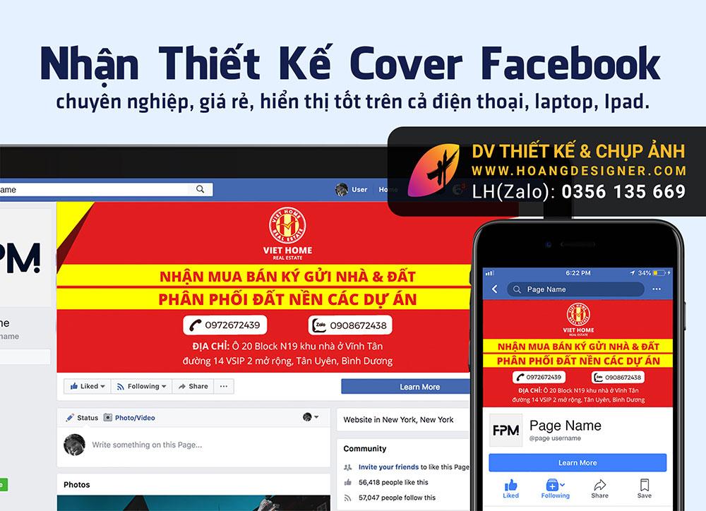 Thiết kế ảnh bìa cover Facebook giá rẻ tphcm