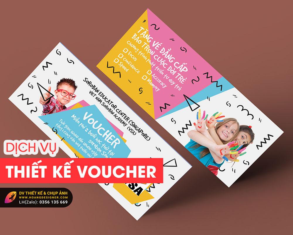 Thiết kế Voucher chuyên nghiệp giá rẻ tphcm